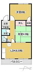 第一梅田コーポ[2階]の間取り