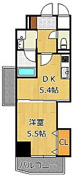 THE SQUARE・Club Residence[5階]の間取り