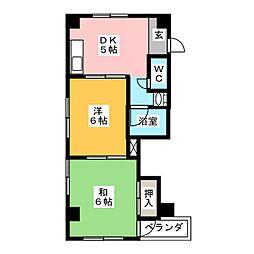 メゾン木村[3階]の間取り