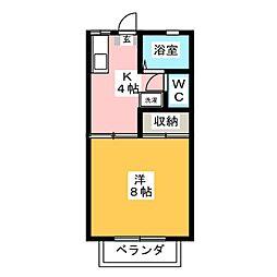 アスティー21[2階]の間取り