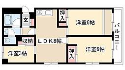 愛知県名古屋市昭和区折戸町4丁目の賃貸マンションの間取り