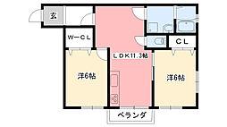 甲子園フラット[203号室]の間取り