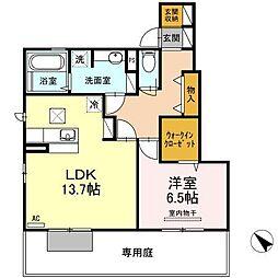 タウンビュー東福山 B棟[1階]の間取り