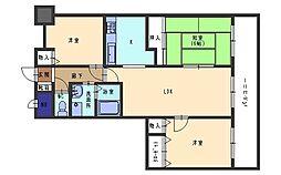 メゾン無憂館2[7階]の間取り