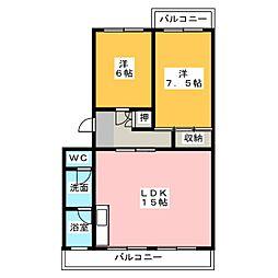 シャトウ西浦[4階]の間取り