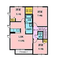 シャーメゾン・グランB[2階]の間取り