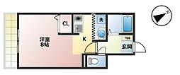 リベックス[2-C号室]の間取り