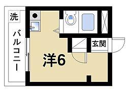 ラ・モア[3階]の間取り