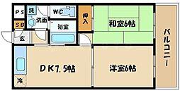大阪府大阪市旭区今市1丁目の賃貸マンションの間取り