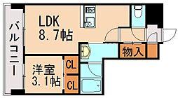 LANDIC  K320 9階1LDKの間取り