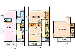 [テラスハウス] 三重県松阪市宝塚町 の賃貸【/】の間取り