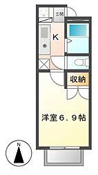 第3ホーメスト桜木[1階]の間取り