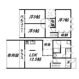 [一戸建] 静岡県浜松市南区安松町 の賃貸【/】の間取り