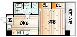 クレフォート東門司[5階]の間取り