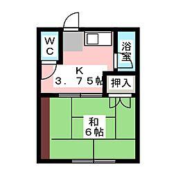 珊瑚荘[1階]の間取り