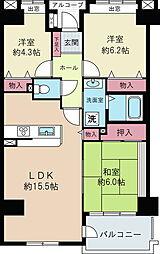 プロムナード仲町台9号棟[2階]の間取り