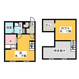プリマグランデ須ケ口壱番館[1階]の間取り