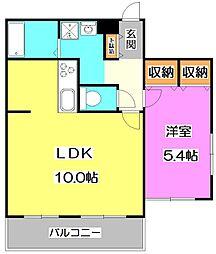 東京都練馬区土支田2丁目の賃貸マンションの間取り