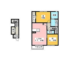 仮)D-room岐阜市芥見[2階]の間取り