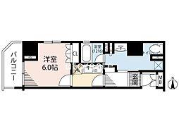 リーガル南船場III 8階1Kの間取り
