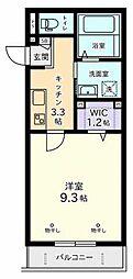 ラフィネSHOUEIII[1階]の間取り