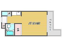 ジョイフル蕨[4階]の間取り