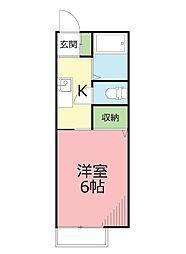 ロンディネ平塚[2階]の間取り