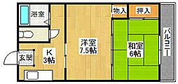 手塚マンション[303号室]の間取り