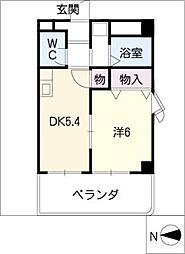 アビタシオン山田[3階]の間取り