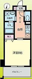 小田急小田原線 鶴川駅 徒歩1分の賃貸マンション 6階1Kの間取り