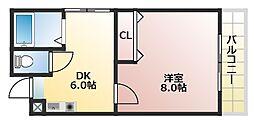 カーサAY[6階]の間取り