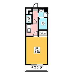 コンフォート第2岩倉[3階]の間取り