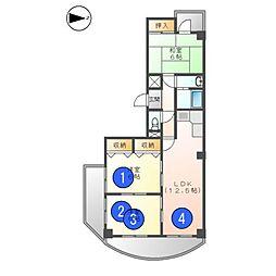 ドゥエトワール[7階]の間取り