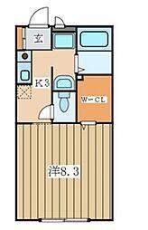 パナハイム追浜[1階]の間取り