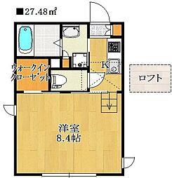千葉県船橋市湊町3丁目の賃貸アパートの間取り