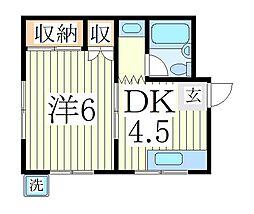 シャトー吉澤[1階]の間取り