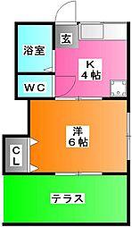 第8丸三マンション[1階]の間取り