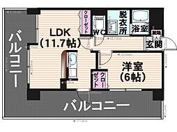 グランパ藤永田[7階]の間取り