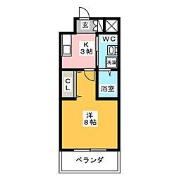 ストリクト井尻[3階]の間取り