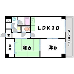 オオケイビル[4階]の間取り