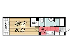 JR内房線 八幡宿駅 徒歩6分の賃貸マンション 3階1Kの間取り