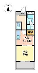 ライオンズマンション徳川[11階]の間取り