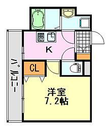 ステーションタワー[1407号室]の間取り