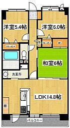 エバーライフネアシティ久留米弐番館[4階]の間取り