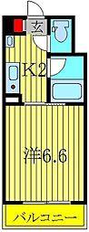 パルテール江戸川台[324号室]の間取り