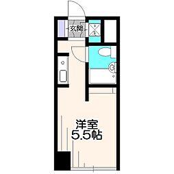 清寿フラット[4階]の間取り