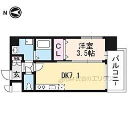 (仮称)アンフィニXVIIマローネ 4階1DKの間取り