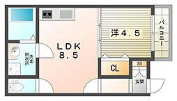 Aventa Hiraike[1階]の間取り