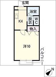 コアロード佐藤[1階]の間取り