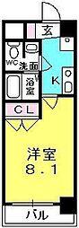 プレジール阪神西宮[3階]の間取り